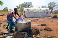 Cooking for 3,000 South Sudanese refugees