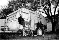 Brothers living in a Caravan Park